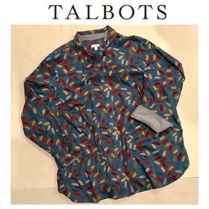 ✳️ Talbots Leaf Blouse